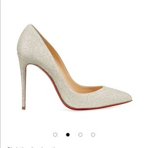 Christian Louboutin Pigalle Follies Heels in Ivory